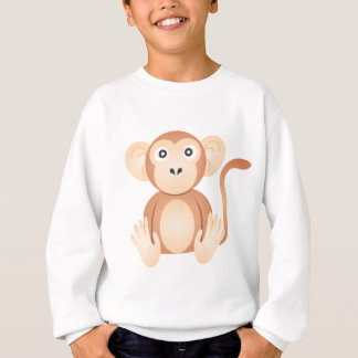 Niedlicher Affe-Cartoon Sweatshirt