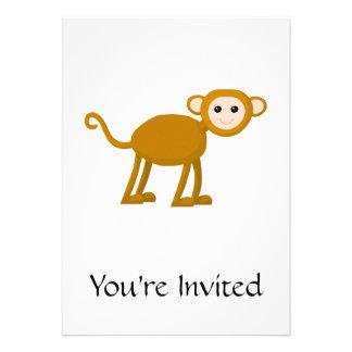 Niedlicher Affe Individuelle Ankündigungen