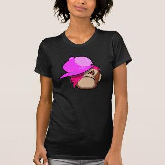 Niedlicher Affe in rosa Apfel Emo Art Hemden