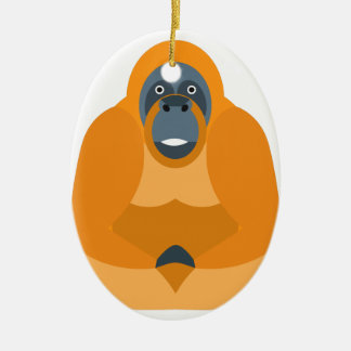 Niedlicher Affe Ovales Keramik Ornament