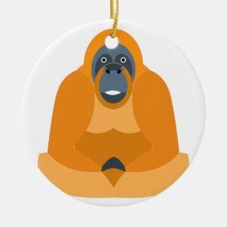 Niedlicher Affe Rundes Keramik Ornament