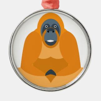 Niedlicher Affe Silbernes Ornament