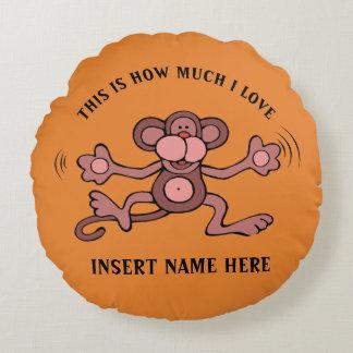 Niedlicher Affeentwurf Rundes Kissen
