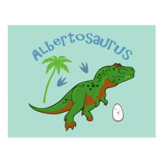 Niedlicher Albertosaurus Postkarte