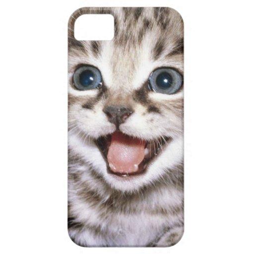 Niedlicher aufgeregter Kätzchen IPhone Fall iPhone 5 Etui
