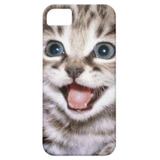 Niedlicher aufgeregter Kätzchen IPhone Fall Hülle Fürs iPhone 5