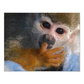 Niedlicher Baby-Affe 10,8 X 14 Cm Einladungskarte