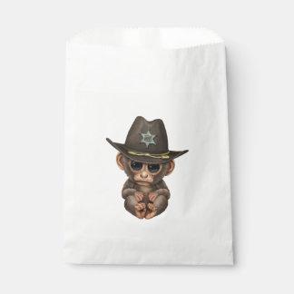 Niedlicher Baby-Affe-Sheriff Geschenktütchen