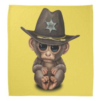Niedlicher Baby-Affe-Sheriff Halstuch