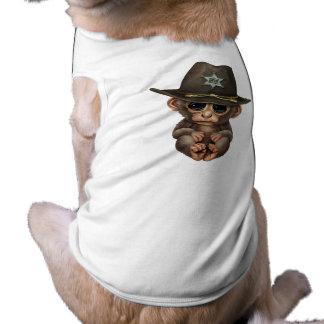 Niedlicher Baby-Affe-Sheriff Top