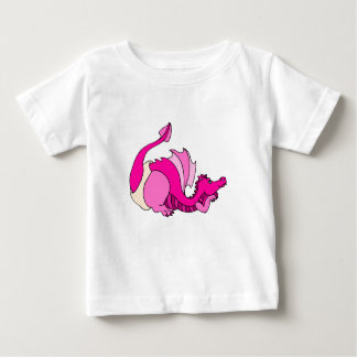 Niedlicher Baby-Drache in der Windel Baby T-shirt