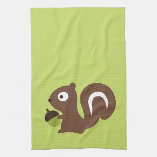 Niedlicher Baby-Eichhörnchen-Entwurf Küchentuch