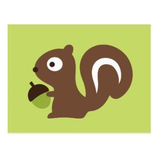 Niedlicher Baby-Eichhörnchen-Entwurf Postkarte