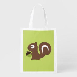 Niedlicher Baby-Eichhörnchen-Entwurf Wiederverwendbare Einkaufstasche