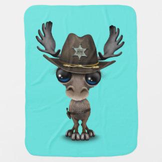 Niedlicher Baby-Elch-Sheriff Kinderwagendecke