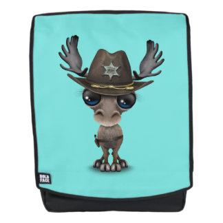 Niedlicher Baby-Elch-Sheriff Rucksack