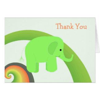 Niedlicher Baby-Elefant danken Ihnen Karte