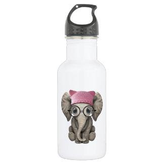 Niedlicher Baby-Elefanttragender Pussy-Hut Edelstahlflasche
