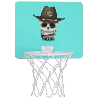 Niedlicher Baby-Eulen-Sheriff Mini Basketball Ring