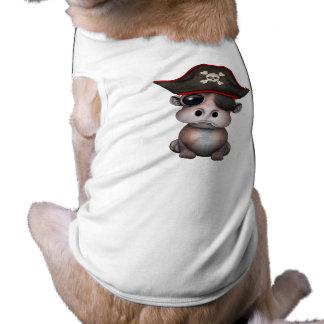 Niedlicher Baby-Flusspferd-Pirat Shirt