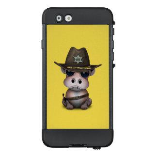 Niedlicher Baby-Flusspferd-Sheriff LifeProof NÜÜD iPhone 6 Hülle