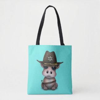 Niedlicher Baby-Flusspferd-Sheriff Tasche