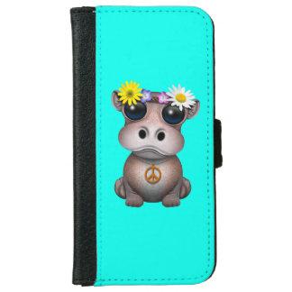 Niedlicher Baby-FlusspferdHippie iPhone 6/6s Geldbeutel Hülle