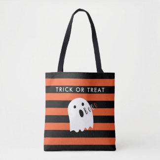 Niedlicher Baby-Geistboo-Halloween-Streifen Tasche