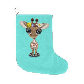 Niedlicher Baby-GiraffeHippie Großer Weihnachtsstrumpf