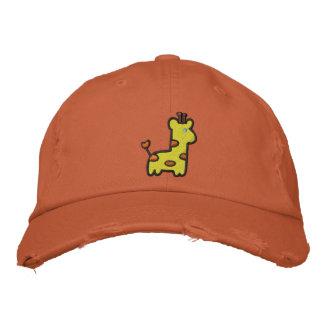 Niedlicher Baby-Giraffen-Hut Bestickte Baseballkappe