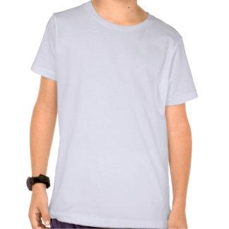 Niedlicher Baby-Junge. Blauer Karo-Hintergrund T Shirt