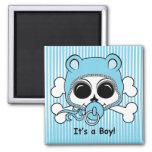 Niedlicher Baby-Jungen-Schädel Magnete