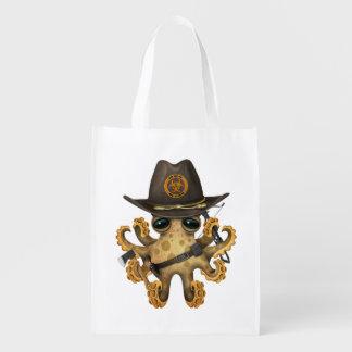 Niedlicher Baby-Kraken-Zombie-Jäger Wiederverwendbare Einkaufstasche