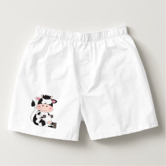 Niedlicher Baby-Kuh-Cartoon Herren-Boxershorts