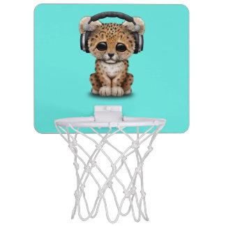 Niedlicher Baby-Leopard-tragende Kopfhörer Mini Basketball Ring