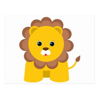 Niedlicher Baby-Löwe Postkarte