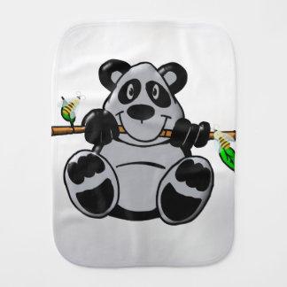Niedlicher Baby-Panda, der Bambus isst Spucktuch