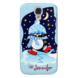 Niedlicher Baby Penguin + individueller Name Galaxy S4 Hülle