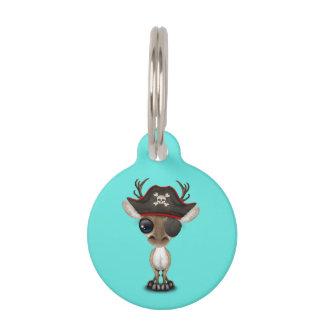 Niedlicher Baby-Ren-Pirat Tiernamensmarke