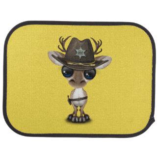 Niedlicher Baby-Ren-Sheriff Autofußmatte