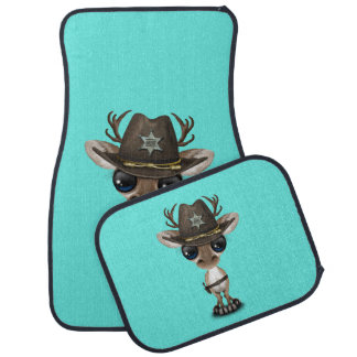 Niedlicher Baby-Ren-Sheriff Automatte