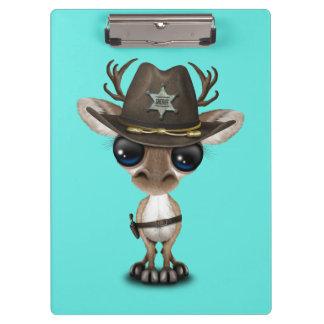 Niedlicher Baby-Ren-Sheriff Klemmbrett