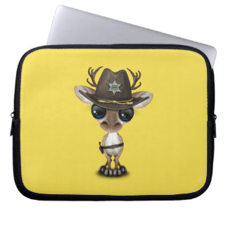 Niedlicher Baby-Ren-Sheriff Laptop Sleeve