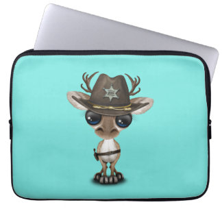 Niedlicher Baby-Ren-Sheriff Laptopschutzhülle
