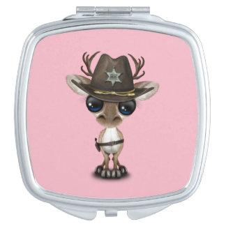 Niedlicher Baby-Ren-Sheriff Taschenspiegel