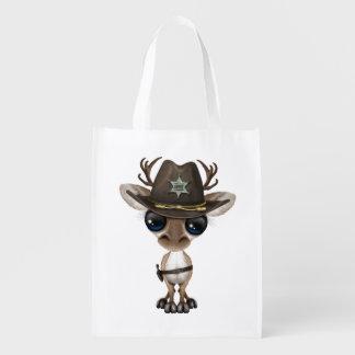 Niedlicher Baby-Ren-Sheriff Wiederverwendbare Einkaufstasche