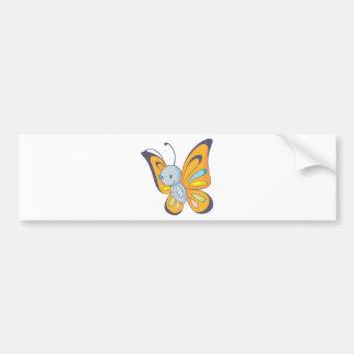 Niedlicher Baby-Schmetterlings-Cartoon Autoaufkleber
