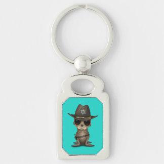 Niedlicher Baby-Seelöwe-Sheriff Schlüsselanhänger