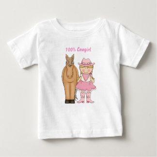 Niedlicher Baby-T - Shirt des Cowgirl-100% und des