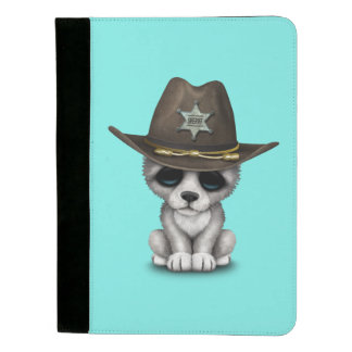 Niedlicher Baby-Wolf-Sheriff Padfolio